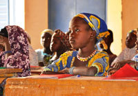 [NIGER] The effect of food insecurity on children's health is obvious; children, particularly those under age 5, are vulnerable to life-threatening malnutrition. Less obvious is the devastating impact of the crisis on children's education. When there is not enough to eat, school can quickly become an afterthought. This is the scenario now facing countless families in the Sahel region of Africa, where a food crisis is looming. Particularly at risk are children in Mauritania, Niger, Burkina Faso, Mali, Chad and localized areas of Senegal. (via UNICEF - At a glance: Niger - Food shortages force children to drop out of school in Niger)