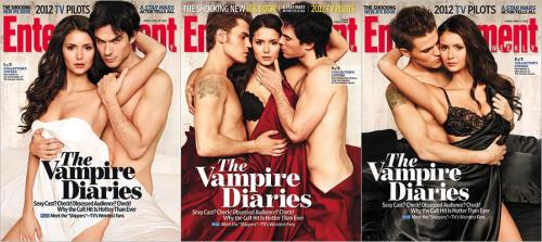 The Vampire Diaries main cast on the cover of Entertainment Weekly magazine. SIZZLING HOT!!