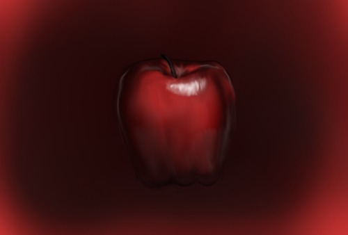 Digital Painting of an apple. Done in Corel Painter Essentials. Yeah, I did this awhile ago but never got around to posting it.