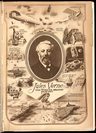 mudwerks:  (via Smithsonian Libraries: Joyeux anniversaire, Jules Verne!) Science and Invention, Vol. VIII, No. 4, Aug. 1920 , 1920.  Today, February 8th, 2012, marks the 189th anniversary of the birth of French science fiction pioneer Jules Verne…