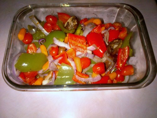 I know for sure this dish is gluten free: Oven baked veggies with some oil, salt and pepper.  It's simple to make and you can eat it hot or cold.  I personally prefer it cold.