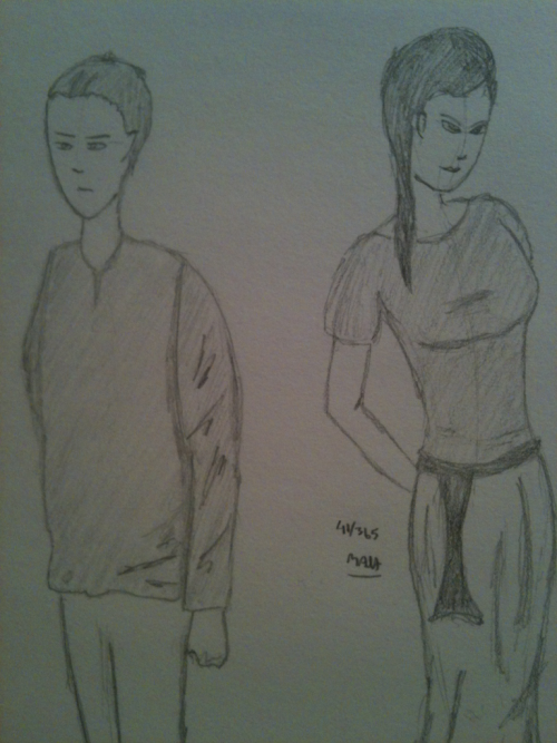 40 and 41 of my 365 Sketch Project. Couldn't upload to Tumblr for some reason yesterday.