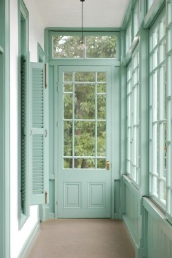 gorgeous aqua blue windows