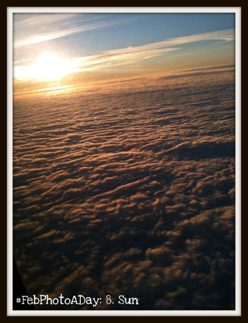 taken one year ago on a flight from indianapolis to kansas city- all i wanted was a sign that much happier times were ahead. & as i peered out my slit of a window, i immediately felt hopeful in the future (a feeling that was very much hit & miss during that time). flying back to kansas meant i was leaving a not-quite-recovered patient behind, but it also meant i was a couple months away from graduation. during the two-hour flight out west, i was thankful for the goodness that was delivered through light, for the beauty of the clouds floating below, & for the bright, bright sun… i will never tire of the sun.