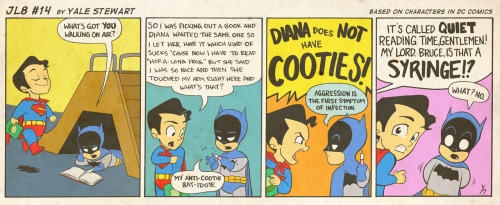 JL8 #14 by Yale StewartBased on characters in DC Comics. Creative content © Yale Stewart. Like the Facebook page here!