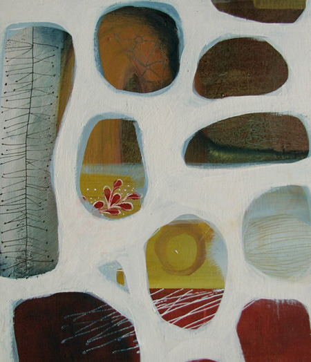 tielseivlkeevers:  garden window 3 mixed media on wood by Tiel Seivl-Keevers series Each 20.5cm x 23.5cm