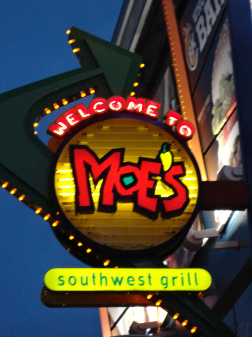 orlandothemeparks: Moes' Mexican Food at CityWalk in Orlando