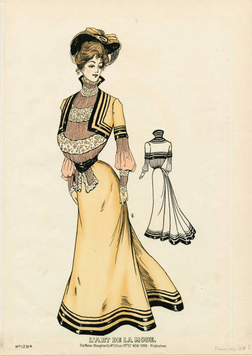 oldrags:  Dress, 1904 US, L'Art de la Mode