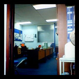 Emptied office….