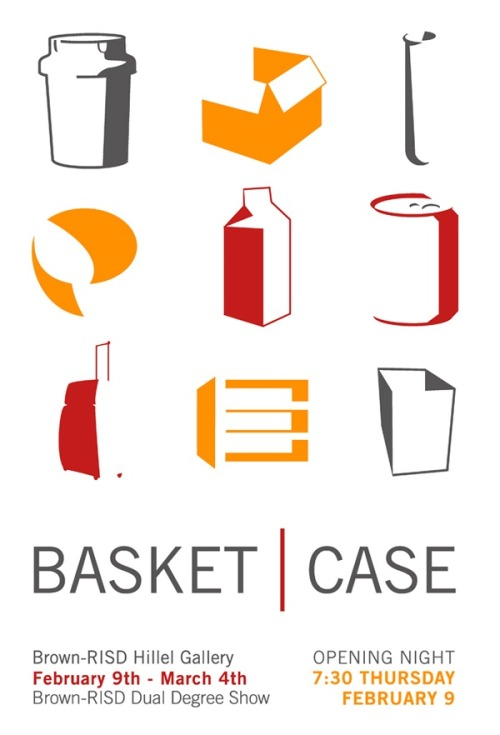 Brown-RISD Dual Degree show - Basket|Case TODAY! after studio from 7:30 - 9:00. ride a slide. push a swing. spin some heads. be there!