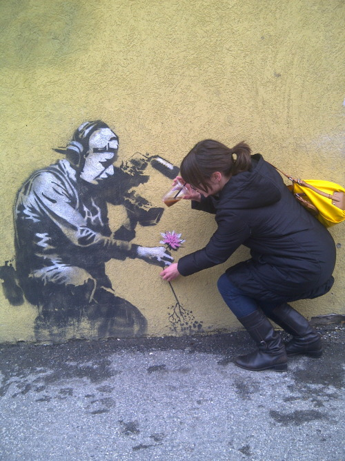 occupyallstreets:  Another piece by Banksy