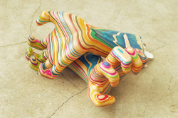 used skateboard deck sculptures - by Japanese artist Hiroshi (via designmilk)