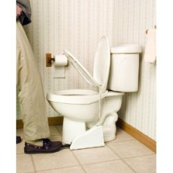 Toilet seat pedal - puts an end to the epic battle of Up vs Down It's on Amazon for 25 bucks