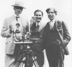Three of the film industry's pathfinders: director D.W. Griffith, independent producer Carl Laemmle, Jr., and theater-chain owner Sid Grauman
