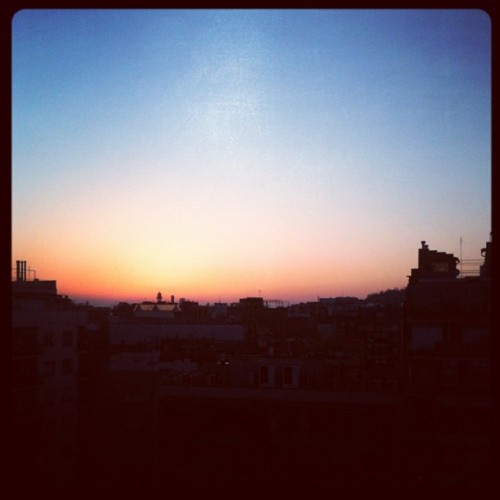 #sunrise in #barcelona (Taken with instagram)