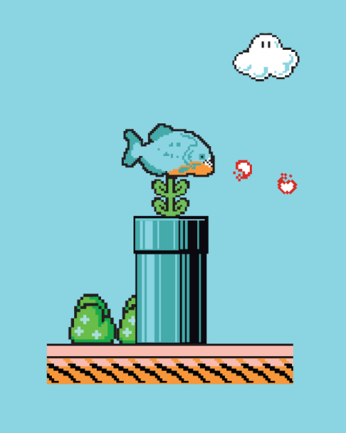 Piranha Plant Created by David Staffell (via:assorted-goodness)