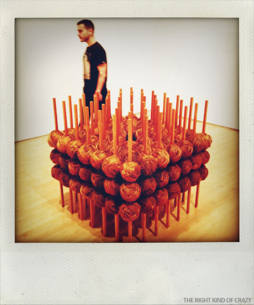Taken at SFMOMA.  Artist: Jackie WinsorTitle: #1 Rope