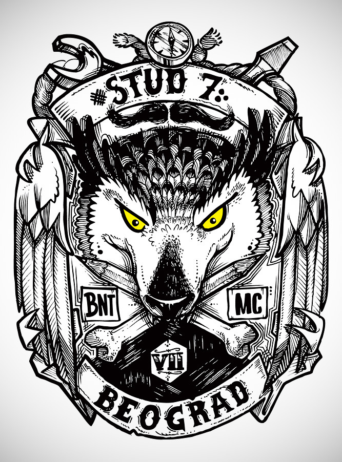 STUD7 x B.N.T. Motorcycle club patch