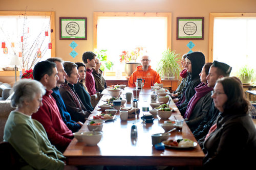 Mindful Eating at Buddhist monastery in upstate New York. All the food is vegan and prepared by two monks. Click the photo to be taken to the New York Times slideshow.