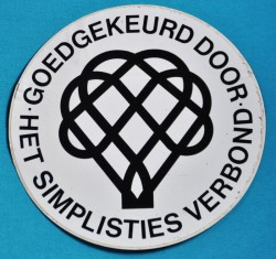 Het Simplisties Verbond (The Simplistic League). Logo designed in 1974 by Leendert Stofbergen for Van Kooten & De Bie.Found here.