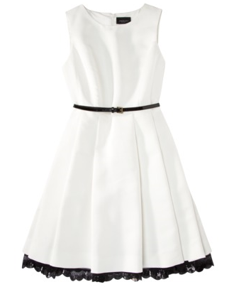 dresslikeglee:  Dress like Quinn: Jason Wu for Target flared dress in cream with black patent belt $59.99 available in store only
