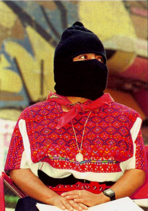 tsotchke:  becauseofthiswoman:    Name: Comandante RamonaDates: 1959-2006Why she rocks: She was a Mayan woman and an officer of the Zapatista Army, serving as a symbol of equality and standing up for the indigenous and impoverished peoples of Mexico. She led revolts and uprisings, demanding basic rights and needs for her people. Even when she was diagnosed with cancer, she still continued to fight for what was right.Because of this woman… she led the Mexican peoples to stand up to their government, and helped them receive things like food, water, and shelter, as well as their basic human rights.   badass