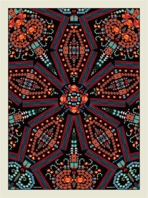 "koldunkisloty:  Donkey Kong Kaleidoscope by Todd Slater For the upcoming ""Multiplayer x2"" video game art exhibition at Gallery1988, Feb. 10th - Mar. 3, 2012. (via: it8bit, ianbrooks)"
