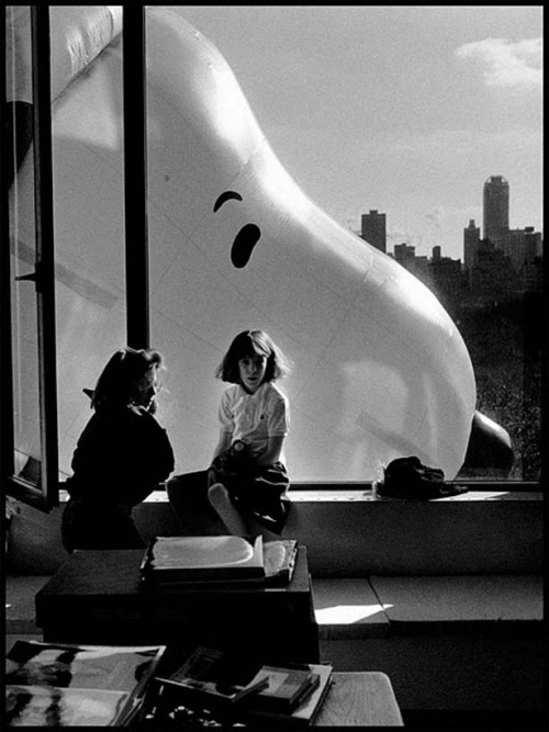 3wings:  Snoopy through the window of the Macy's Thanksgiving Day Parade, 1988 Elliott Erwitt