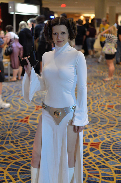 My Princess Leia costume (animated maquette version) at Dragon*Con 2011 - photo by Sp3ed Demon on Flickr.
