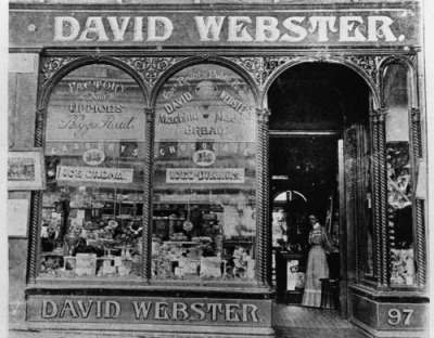 David Webster's Tea Rooms in Brisbane, 1900