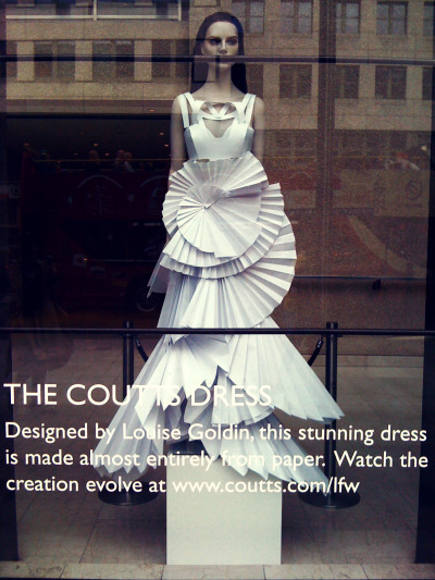 fashion - taken in london / louise goldin the coutts dress