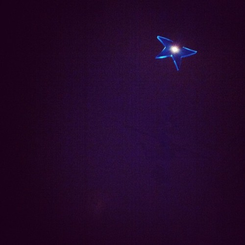 Star night light #star #blue #light #sleep #wokeupinthemiddleofthenight (Taken with instagram)