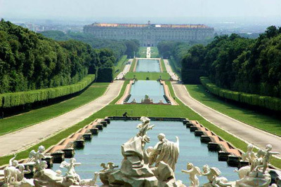 Royal Palace of Caserta - waterfalls