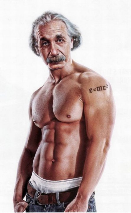 rawbdz:  Bodybuilder Einstein manipulation.