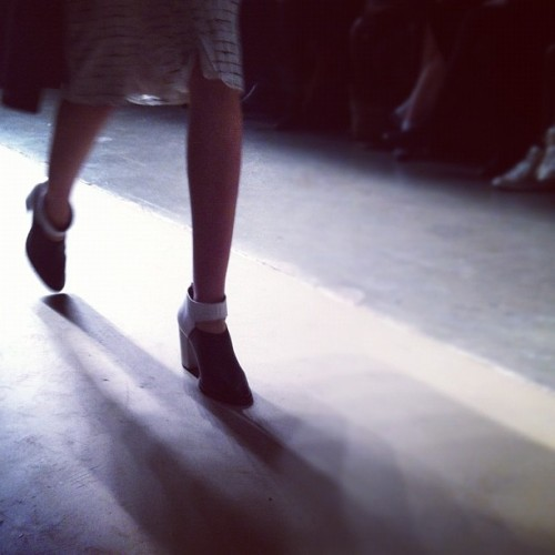 luckymag:  And we're ready for day 2 of @nyfw #nyfw (Taken with instagram)  Look at ze shoes