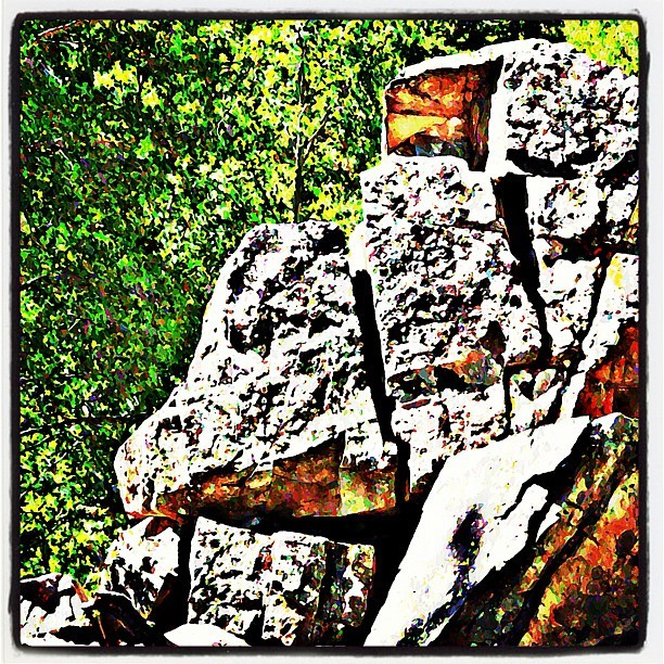 Rock from Hike in Aspen #hiking #Aspen (Taken with instagram)