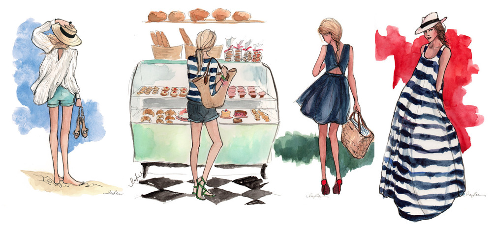 The Style Mermaid by Kisty Mea • Inslee Haynes: Fashion illustrations.