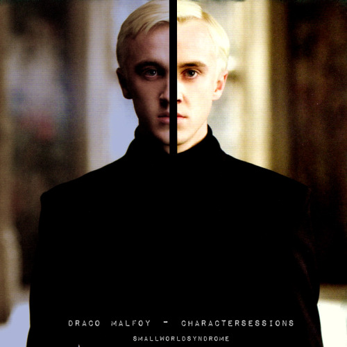 Charactersessions - DOUBLECHEVRON ASKED ☞ Draco Malfoy I wanted a mix that would show Draco's Character development, a mix that started off booming, confident, badass, brash and abrasive, and finished quiet, unassuming, begging for forgiveness, horribly sad and regretful. The lyrics in Italics are just some of the things I though reflected Draco, in many cases there are more.  1- Bulls in Brooklyn - The Academy Is Some people have it, and other people don't 2- Soldier Boy - Martina Topley-Bird (Feat. Gorillaz) Soldier Boy, Eyes open : You know what to do 3- Switchback - Celldweller I made a choice, that I regret. It's too late to Switchback 4- Latin Simone - Blur Give up, if you want to survive. 5- Talk Show Host - Radiohead I want to. I want to be someone else or I'll explode. 6- Double Bass - Gorillaz All of which makes me anxious, at times unbearably so. 7- Hundred - The Fray Somewhere between unsure and a hundred. 8- New Day - Jay Z and Kanye West I'll never let my son have an ego, he'll be nice to everyone wherever we go. 9- New Genious (Brother) - Gorillaz Don't trust people you meet, they might promise you that the river ain't deep. 10- Hey - Red Hot Chili Peppers Hey, what would you say if I'd changed? [CLICKTHROUGH TO DOWNLOAD] Please like or REBLOG if downloading, I'd appreciate it :)