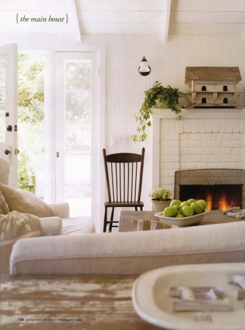 White rustic interior