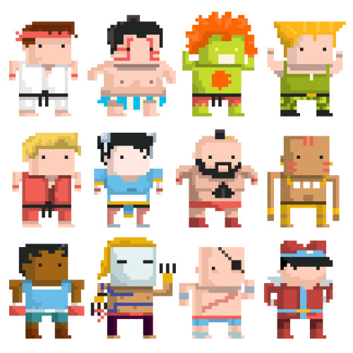 "Juan Solon put together some great Street Fighter pixel art for a good cause. More information can be found below and on his blog. ""Krudar, an awesome Muay Thai gym in Toronto, is having a fundraiser for Kenya this Saturday Feb 11. I wanted to donate an illustration to the gym because it has done a lot for me and my friends. So in spirit of martial arts and fighting, I created these cute Street Fighter Characters as a donation!"" Shoryu-yes you can For Charity by Juan Carlos Solon (Society6) (Twitter)"