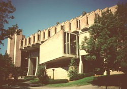 The Goddard Library (1969) at Clark University, Worcester, MA designed by John M. Johansen