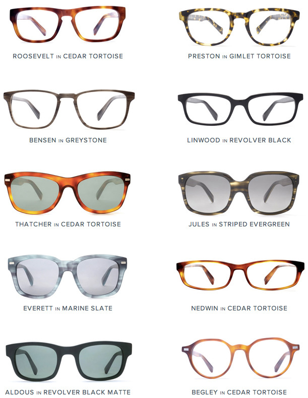 newness from warbyparker. begley + preston win my votes.