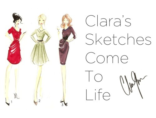 Clara's Sketches Come To Life - The Fold - Jermyn Dress - business dress