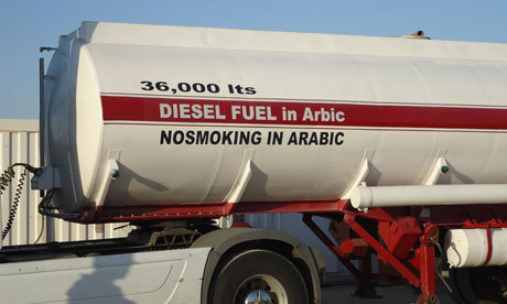 "So, how do you translate Diesel Fuel and No Smoking in Arabic? It would seem that someone took the instructions for this tanker a little too literally (via The Guardian) And they can't even get ""in Arabic"" right!"