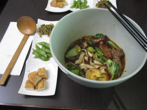 1/28/2012 Eating this in Taiwan is as legit as Taiwanese Beef Noodle Soup gets.