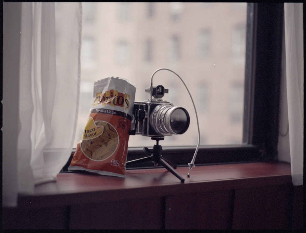 Still Life With Doritos Hasselblad 500C/M (A16 back) Zeiss Sonnar 150mm f/4 Fuji Pro 800Z Epson V500