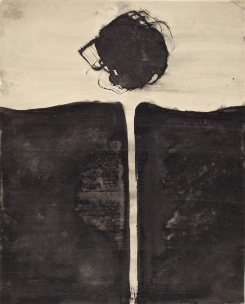 "Tawara Yusaku, "" Chikau (I Vow)"" ink on paper"