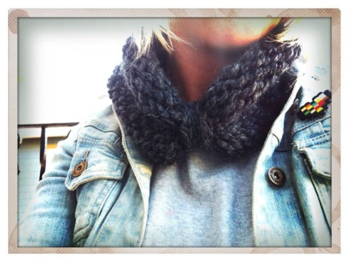 This cowl is now on SALE for $22 in my shop! It's knit and ready to be shipped to your neck (or ears! it doubles as an earwarmer AND a cowl! IMAGINE THAT?!)