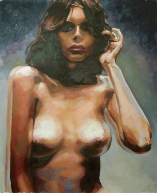 Fuzzy nude just finished Oil on canvas (Happy about this one)