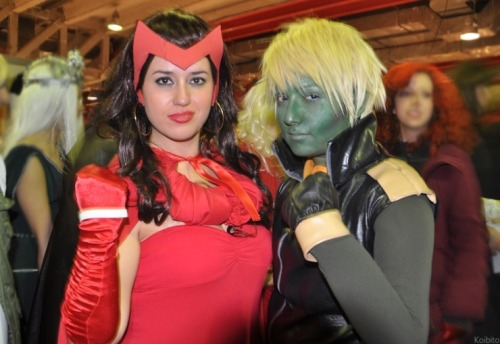 potatoparanoia:  Scarlet Witch and Hulkling by =Kyoaku-Koibito